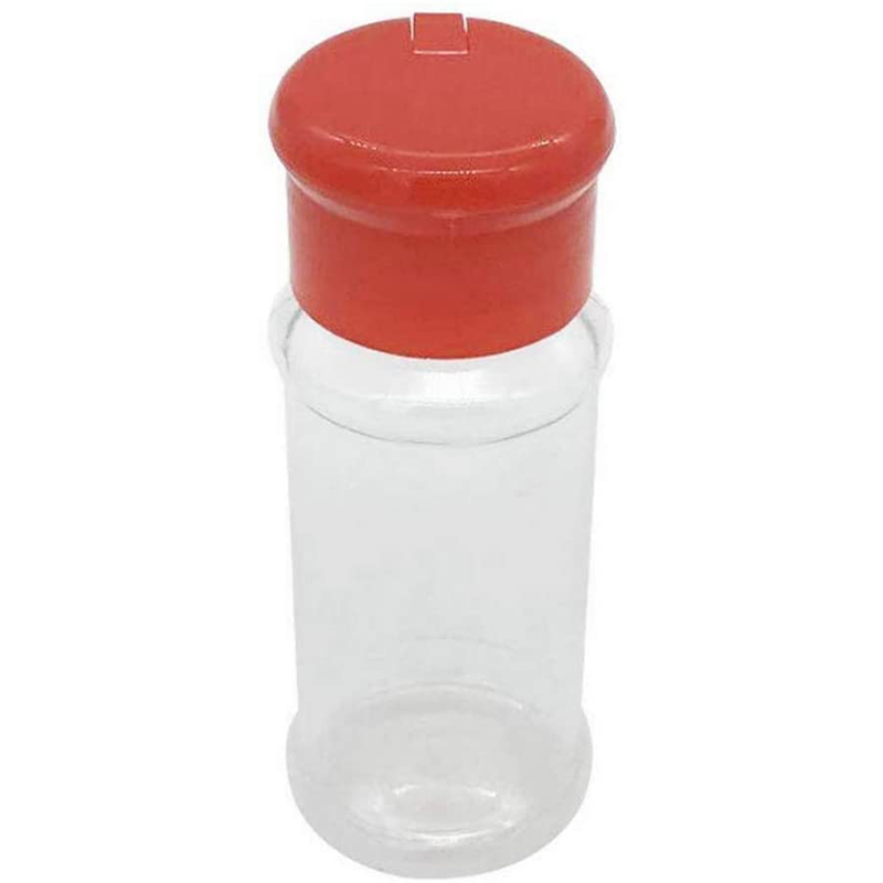 Set of 50 empty plastic spice bottles for storing barbecue seasoning