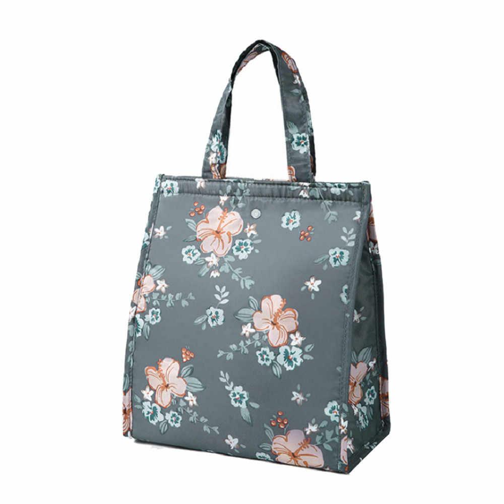 2019 العلامة التجارية الجديدة النساء السيدات الفتيات الاطفال المحمولة معزول حقيبة الغداء صندوق نزهة حمل برودة حقيبة الغداء