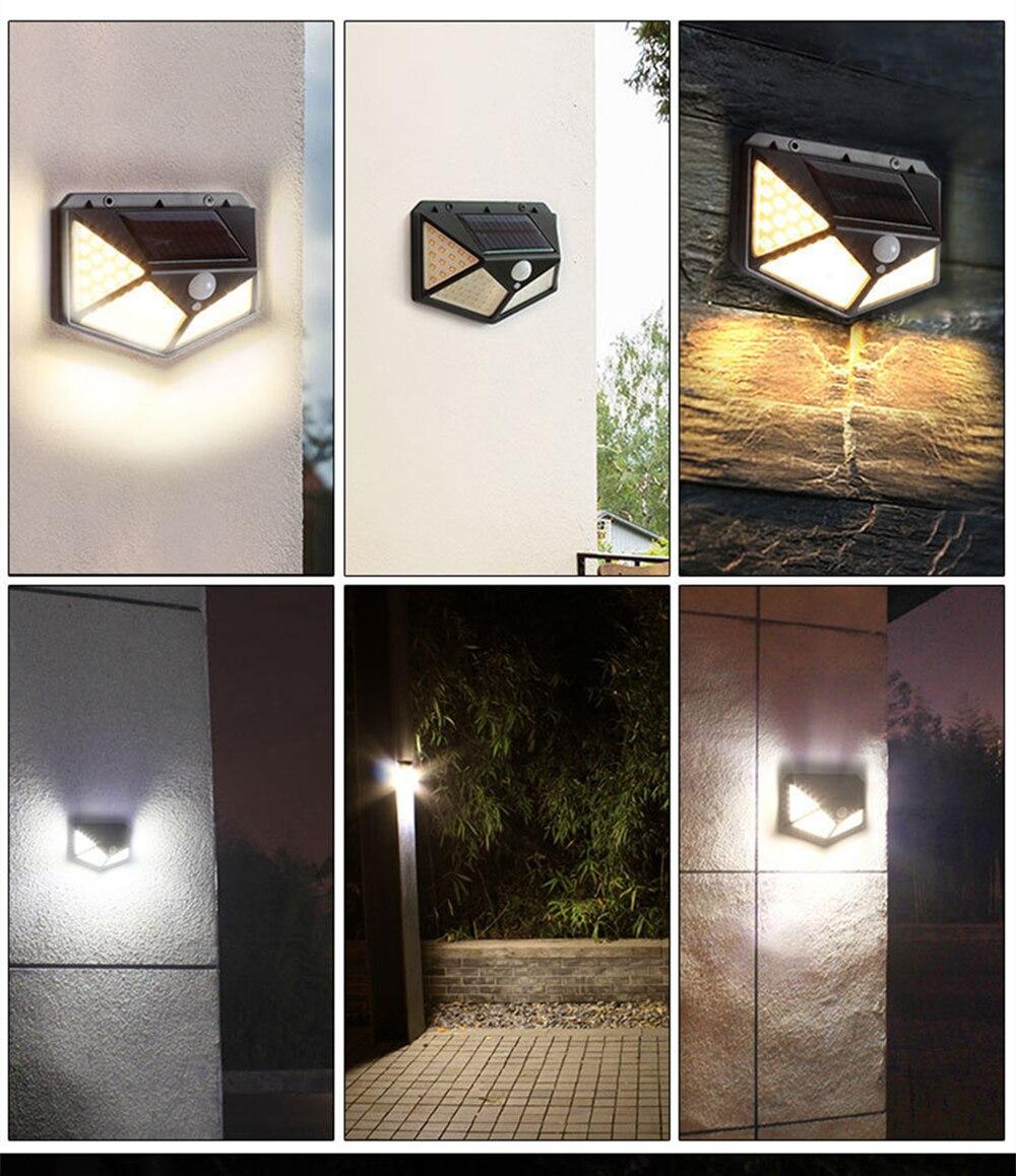 jardim luz led 3 modos sensor movimento