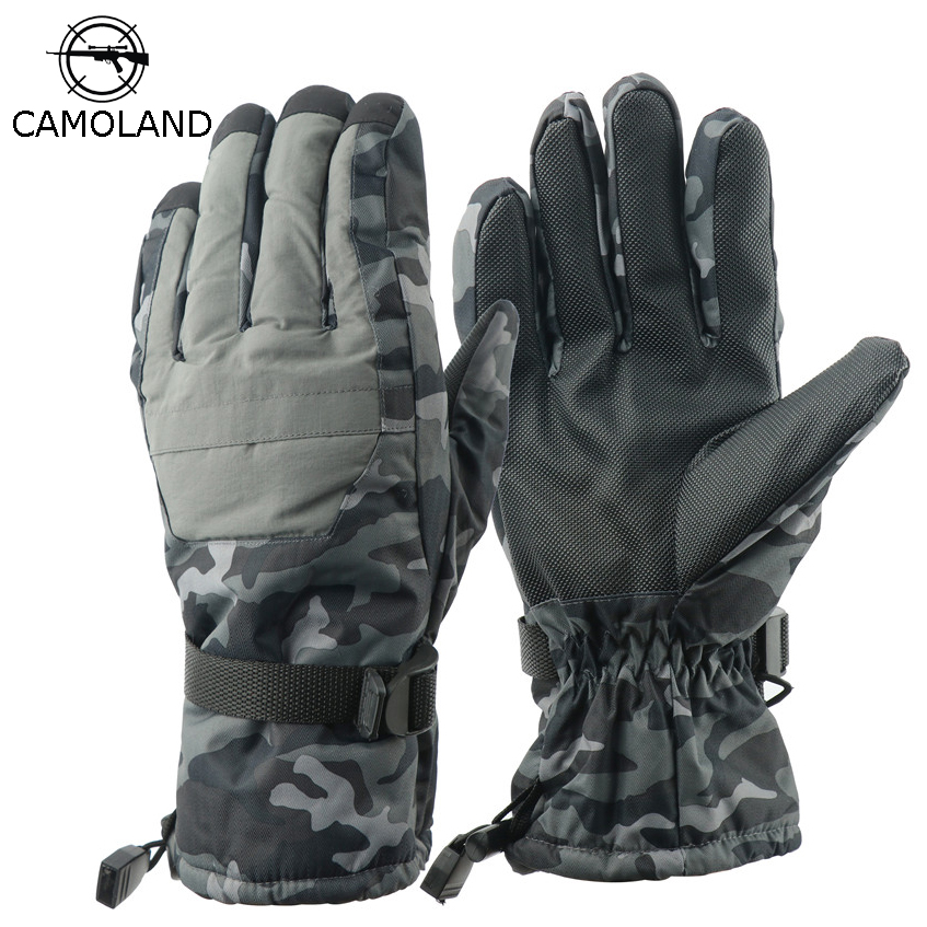 2019 New Men Winter Gloves Hiking&camping Ski Gloves Thicken Non-slip Camo Men Glove Waterproof Tactical Use Thermal Mittens