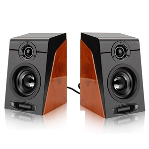 Computer Speakers with Surround Stereo USB Wired Powered Multimedia Speaker for PC/Laptops/Smart Phone 3Wx2
