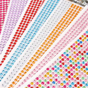 1200Pcs/set 3mm Self Adhesive Acrylic Rhinestone for Phone PC Car Decal Styling Accessories Art Diamond Scrapbooking Stickers - discount item  30% OFF Arts,Crafts & Sewing