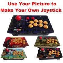 Joystick de Arcade RAC-J500S, controlador de juegos con cable, panel de control acrílico, para PC, personalizado, con USB y 10 botones