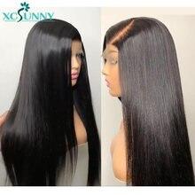 Парик из бразильских человеческих волос с завязкой спереди без