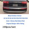 Wholesale 100pcs/lot for A1 A2 A3 A4 A5 A6 A7 A8 Q1 Q3 Q5 Q7 Car Styling 3D Metal Car Stickers Car Truck Motor Decal Sticker