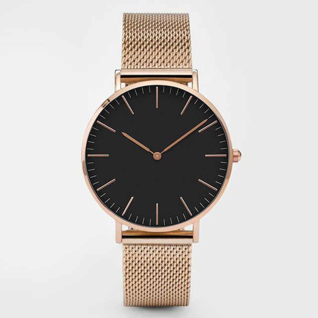 Mode femmes montres Ultra mince en acier inoxydable maille ceinture Quartz montre-bracelet dames robe montre classique en or Rose horloge décontracté