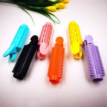 1 Uds rodillo de pelo de moda para mujeres con peine rodillo esponjoso DIY rizador de pelo Portable esponjoso pinzas de pelo herramientas de peluquería