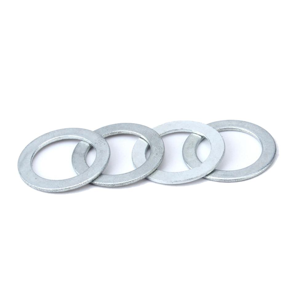 4PCS Bicycle Pedal Washer Silver Bike Crank Gasket Pedal Aluminum Tighten Washer Cycling Practical Accessories