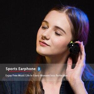 Image 5 - Plufy sem fio bluetooth esporte fones de ouvido rádio mp3 player neckband fone estéreo suporte cartão memória