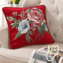 Chenille 3D embroidery kussenhoes Cushion Cover 48*48cm Pillowcase Home Car Decorative Pillows cojines decorativos para sofa