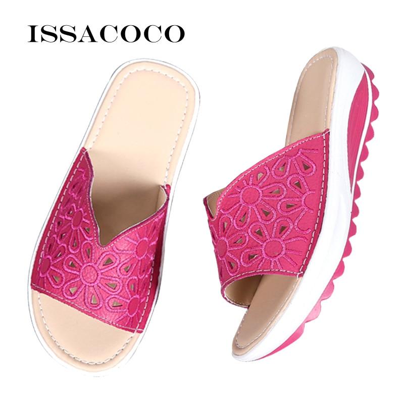 Women's Summer Luxury Casual Leather Sandals Shoes Footwear Ladies's Flats Pumps Females Wedges Designer Shoes Sandels For Women