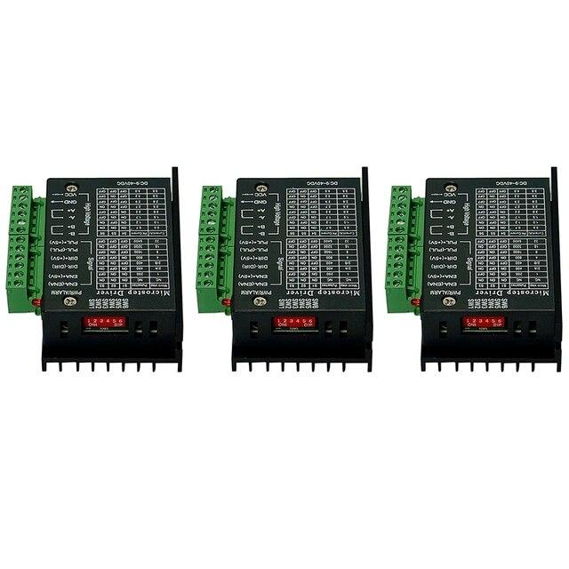 ABSF 3Pcs 42/57/86 Tb6600 Stepper Motor Driver 32ส่วนอัพเกรดรุ่น4.0A 42VdcสำหรับCnc Router