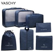 Packing Cubes Luggage-Organizer Storage-Bags VASCHY Waterproof Portable Women Clothes-Sort-Case