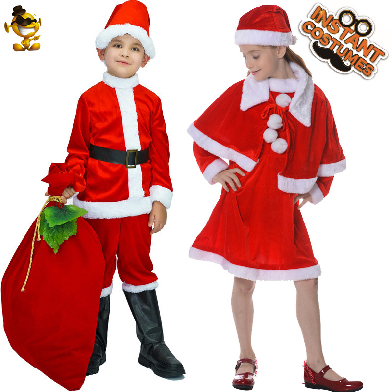 Christmas Santa Claus Elf Cosplay Costume for Toddler Baby Girls Boy Outfits Set