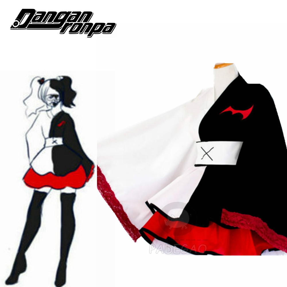<font><b>Danganronpa</b></font> Monokuma <font><b>cosplay</b></font> pinafores kimono Female Dresses Halloween <font><b>Cosplay</b></font> Csotume Custom Sizes image