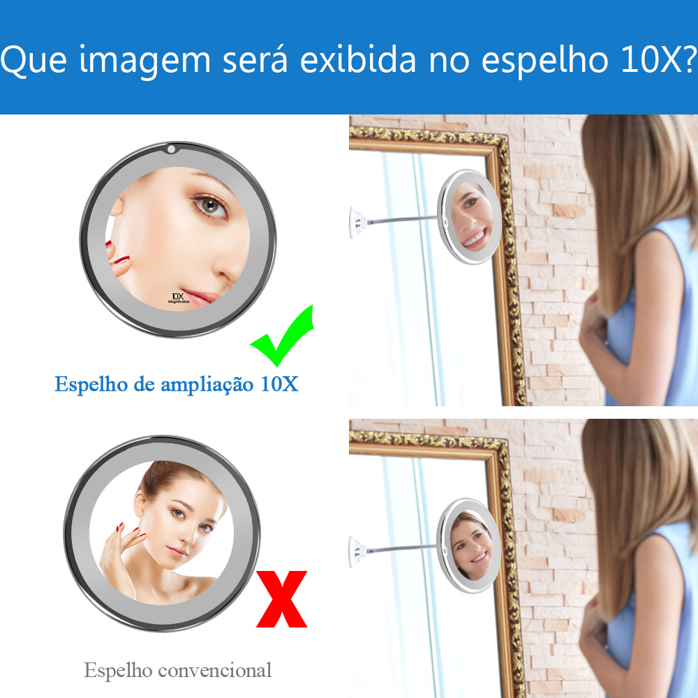10x Magnifying LED Mirror 1