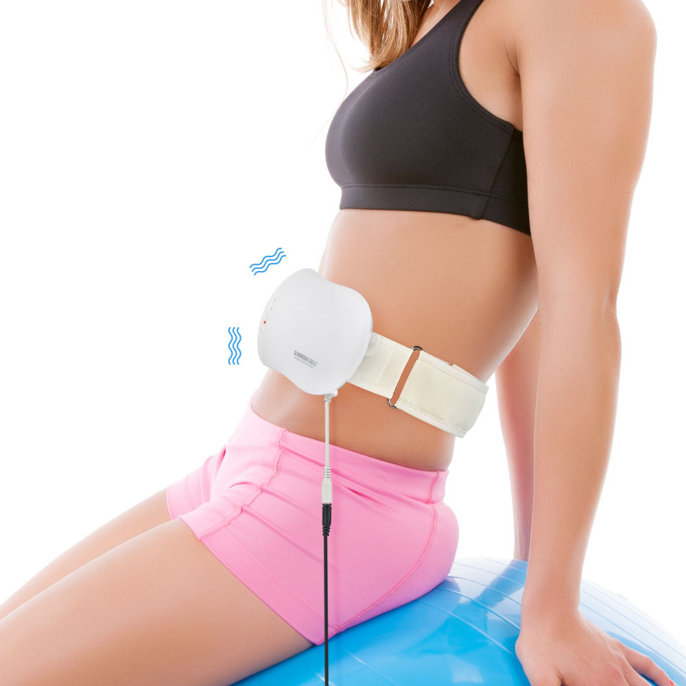 Electric Slimming Belt Lose Weight Fitness Fat Burning Vibration Waist Trainer Abdominal Belly Muscle Exercise Stimulator image