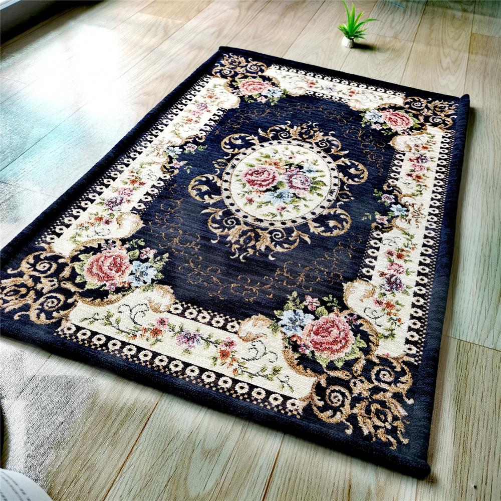 Flower Pattern European Carpet Living Room Big Area Rug Home Door Mat Rugs For Bedroom Jacquard Rugs And Carpet Decoration Carpet Aliexpress