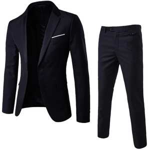 Suit-Sets Blazers Pants Wedding-Party-Set Autumn Men 2pieces Spring Classic