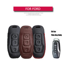 Para Ford Mondeo Ford Explorer 5 Mustang F-150 Galaxy S C Max Explorer Ranger MK3 MK4 MK5 Fiesta F15 Borde de coche de cuero cubierta