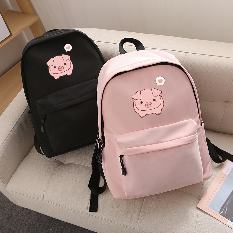 Cute Cartoon Pig Women's Backpacks For Girl Student Female Fashion Leisure High Capacity Quality Travel Waterproof Knapsack 2019 image
