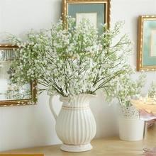 2/5/10 pçs gypsophila flor floral falso seda festa de casamento buquê decoração para casa flores artificiais gypsophila diy buquês florais