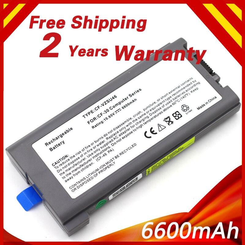 6600mAh  Laptop Battery For Panasonic Toughbook CF-30 CF-31 CF-53 CF-VZSU46 CF-VZSU46U CF-VZSU72U CF-VZSU71U CF-VZSU1430