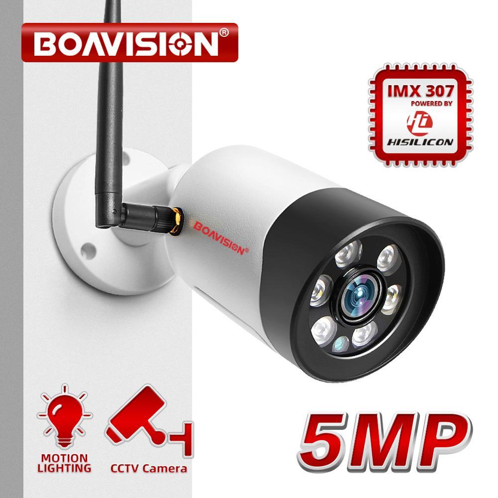 Caméra HD 1080P 5MP Wifi IP extérieure sans fil Onvif couleur Vision nocturne CCTV caméra de sécurité balle TF emplacement pour carte APP CamHi