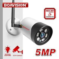 HD 1080P 5MP Wifi IP Camera Outdoor Wireless Onvif Full Color Night Vision CCTV Bullet Security Camera TF Card Slot APP CamHi