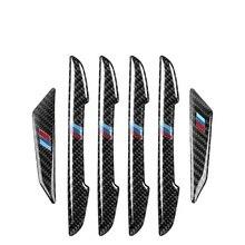 6pcs/set Carbon Fiber Anti Scratch Strip Stickers for BMW Door Rearview Mirror F30 E90 E92 Body Protection Film Car Accessories