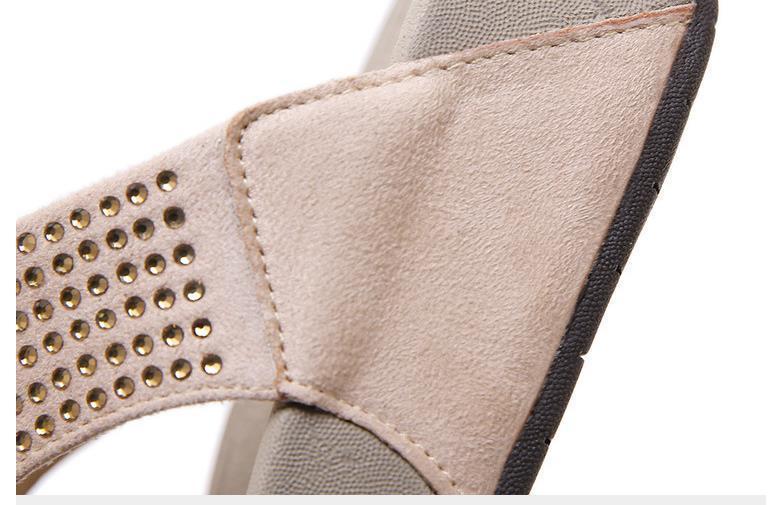 Rhinestone Women Slippers Flip Flops Summer Women Crystal Diamond Bling Beach Slides Sandals Casual Shoes Platform Woman Shoes 5