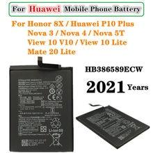 3750mAh HB386589ECW Batterie Pour Huawei P10 Plus Mate 20 Lite Honneur 8X View 10 Lite Nova 5T/3 /4 COR-L29 COR-AL00/10 COR-TL10