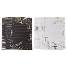 8 Sheets Vintage Bronzing…