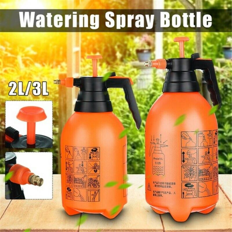 2/3l pressão jardim spray garrafa handheld pulverizador casa bomba de água pulverizador ajustável portátil químico mão pressão gatilho