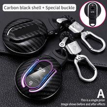 Carbon ABS Key Case Cover For BMW Mini Cooper JCW F54 F55 F56 F57 F60 Clubman Countryman Car Auto Accessories