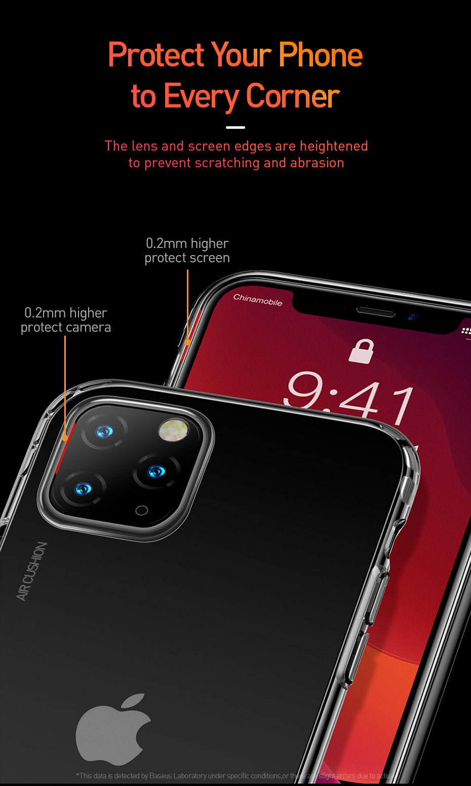 Air Bag Clear TPU Case for iPhone 11/11 Pro/11 Pro Max 9