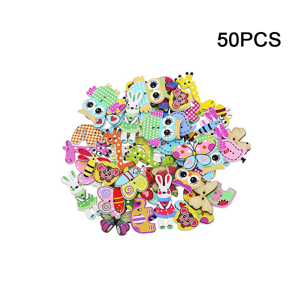 50 pcs Panda shape Wooden buttons Sewing Scrapbooking Embellishments Crafts 28mm