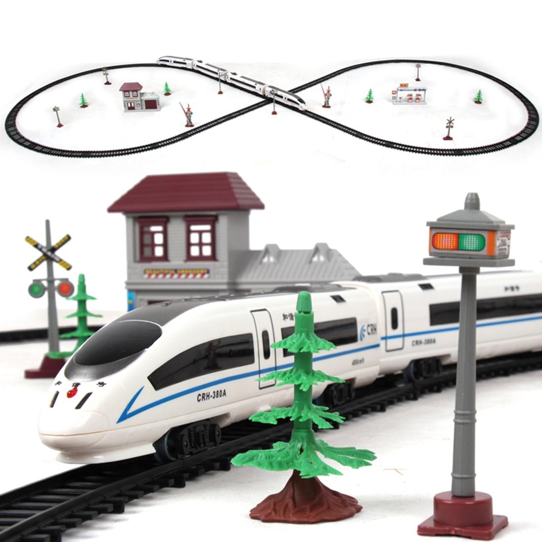 1:87 Children Electric Simulation High-Speed Rail Harmony Train Toy Set Sand Table Scene Train Track - L