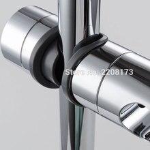 Аксессуары для ванной комнаты Универсальный 18 ~ 25 мм ABS пластиковый держатель для душевой направляющей Регулируемый кронштейн для держател...