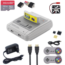 Retroflag SUPERPIE CASE J Plastic Box for Raspberry Pi + 32GB SD Card + 3A Power Adapter + HDMI + Fan + Heat Sink for RPI 3B+