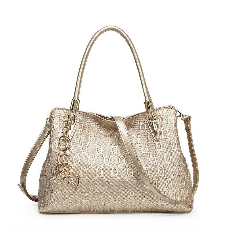 Real Genuine Cow Leather Bag Female Natural Shoulder Bags Gold Bolsa Feminina Luxury Handbags High Quality Women Bags Designer