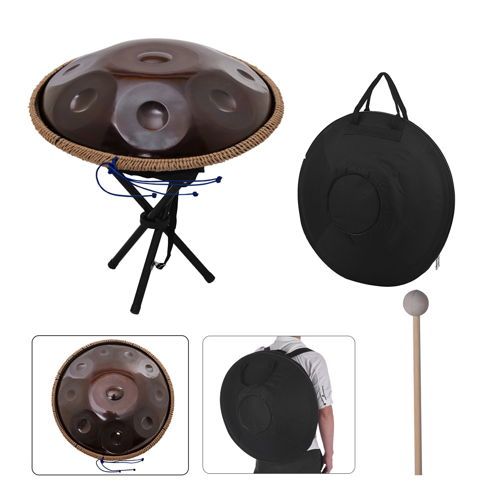 10-notes-handmade-handpan-drums-antique-f-major-d-minor-hand-drum-music-hand-pan-drums-percussion-musical-instruments