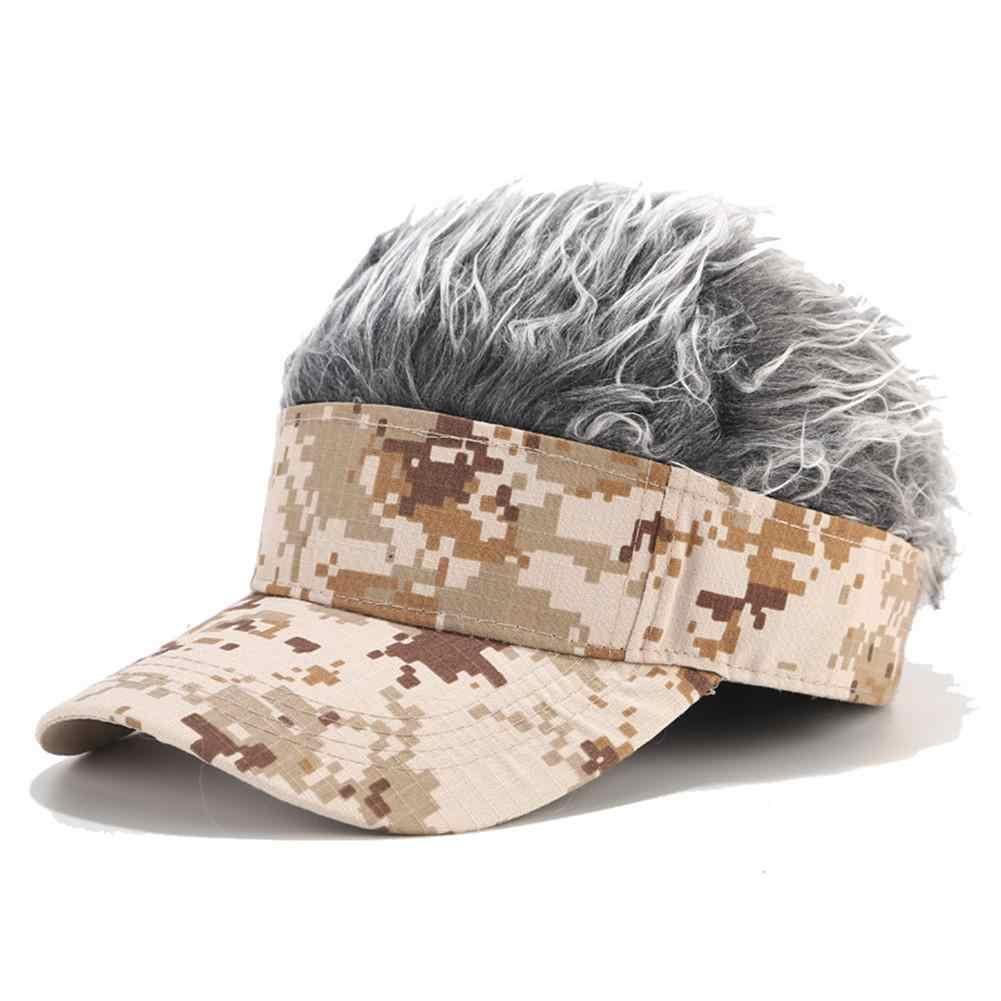 2019 Nuovo cappello unisex Divertente Protezione Della Parrucca Stile Dei Capelli Visiera casual Cappellini da golf All'aperto Parrucca Berretto Da Baseball Genitore-bambino di Strada trend All'aperto