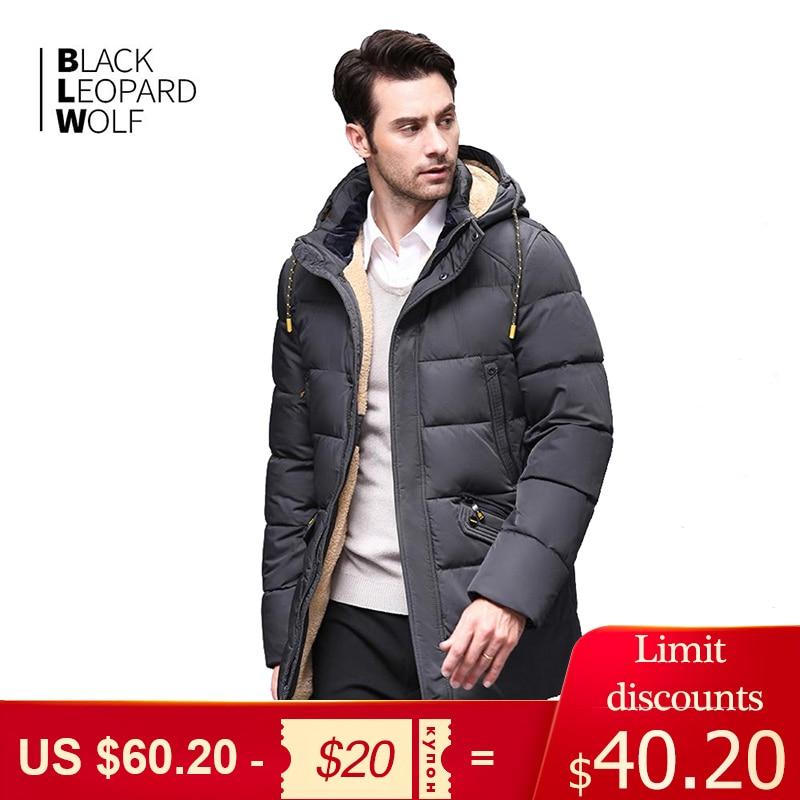Blackleopardwolf 2019 winter down jacket men's coat men's coat men's coat Alaska detachable long warm fashion coat BL-833