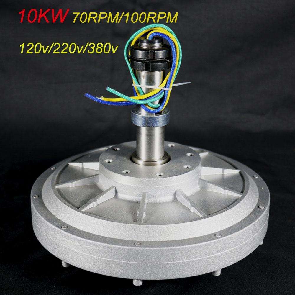 NEW FLTXNY 10KW 120v 220v 380v Coreless Rare Earth Permanent Magnet Generator Low RPM 100rpm/70rpm 10000w generator Free Energy