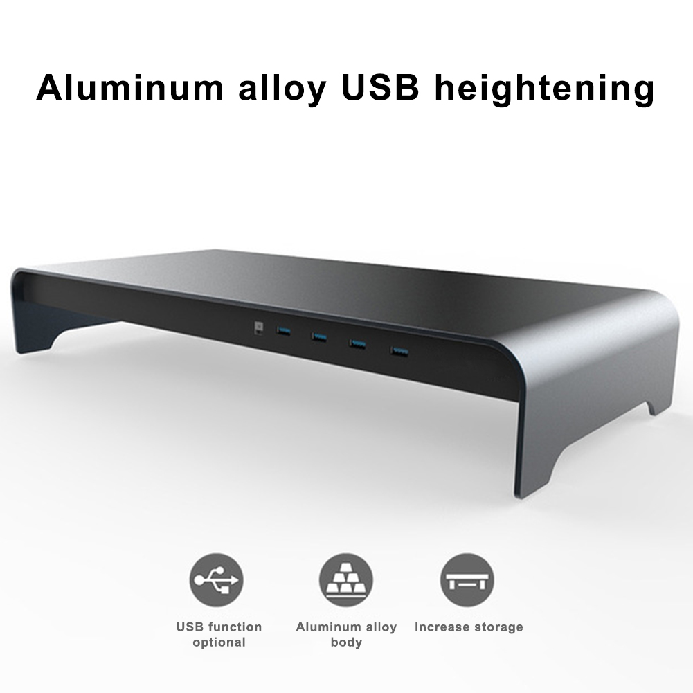 2019 support de moniteur Base intelligente en alliage d'aluminium ordinateur support de Base d'ordinateur portable avec 4 USB 3.0 Port S888 - 6