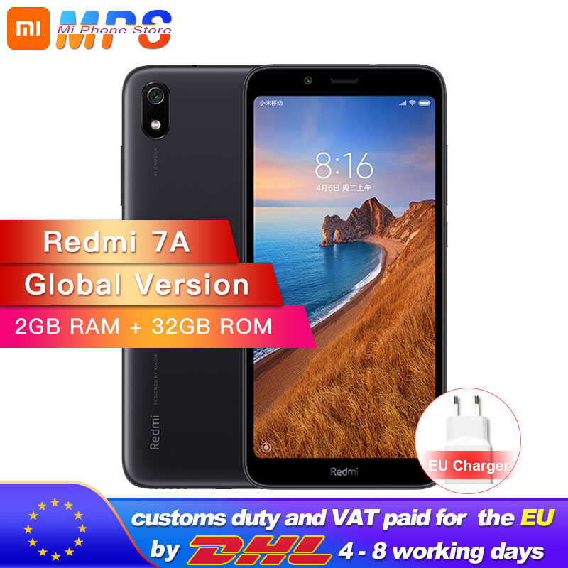 In Stock Global Version <font><b>Xiaomi</b></font> <font><b>Redmi</b></font> <font><b>7A</b></font> 7 A 2GB 32GB ROM Snapdargon 439 Octa core Mobile Phone 5.45