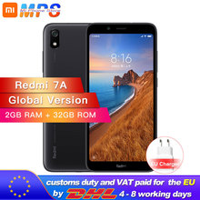 "Version mondiale en Stock Xiaomi Redmi 7A 2GB 32GB Snapdargon 439 Octa core téléphone portable 5.45 ""13MP caméra 4000mAh batterie"