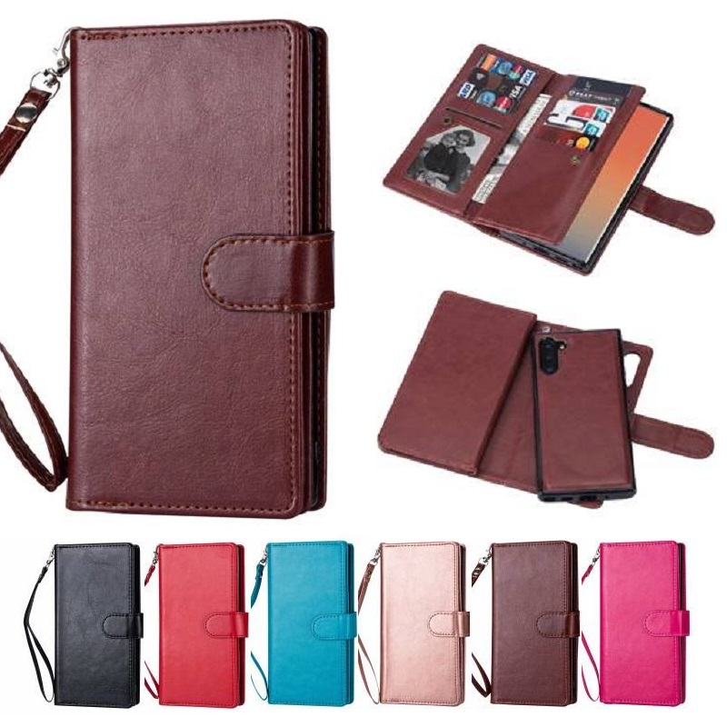 Detachable Leather <font><b>Case</b></font> For <font><b>Samsung</b></font> Galaxy Note 10 Plus Note 9 Note 8 <font><b>Wallet</b></font> <font><b>Case</b></font> For <font><b>Samsung</b></font> S20 Ultra S10 Plus S9 S8 <font><b>S7</b></font> <font><b>Edge</b></font> image