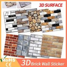 3d papel de parede de mármore tijolo casca e auto-adesivo adesivos de parede à prova ddiy água diy cozinha banheiro casa vara de parede pvc telhas painel